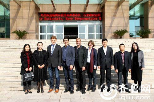 德国林根市市长来山东外国语职业学院访问