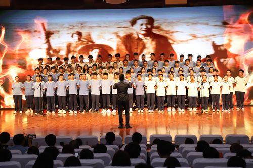 """我的中国梦合唱比赛_我校举办庆祝新中国成立70周年""""我和我的祖国""""合唱比赛 - 山外 ..."""
